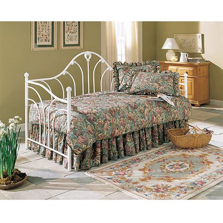 Fashion Bed Group Emma Metal Twin Daybed, Antique White ()