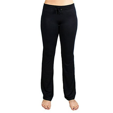 Tight Spandex Pants (Soft & Comfy Yoga Pants, 95% Cotton/5% Spandex, Black M)