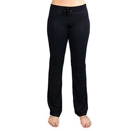 Soft & Comfy Yoga Pants, 95% Cotton/5% Spandex, Black M