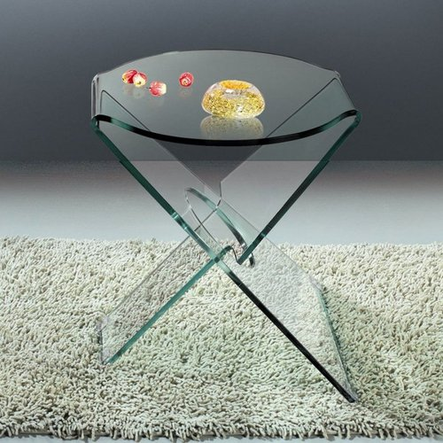 Creative Images International Creative Images ET043C Bent Glass End Table