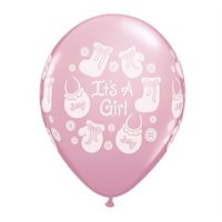 It's a Girl Buttons & Bows Qualatex Balloon