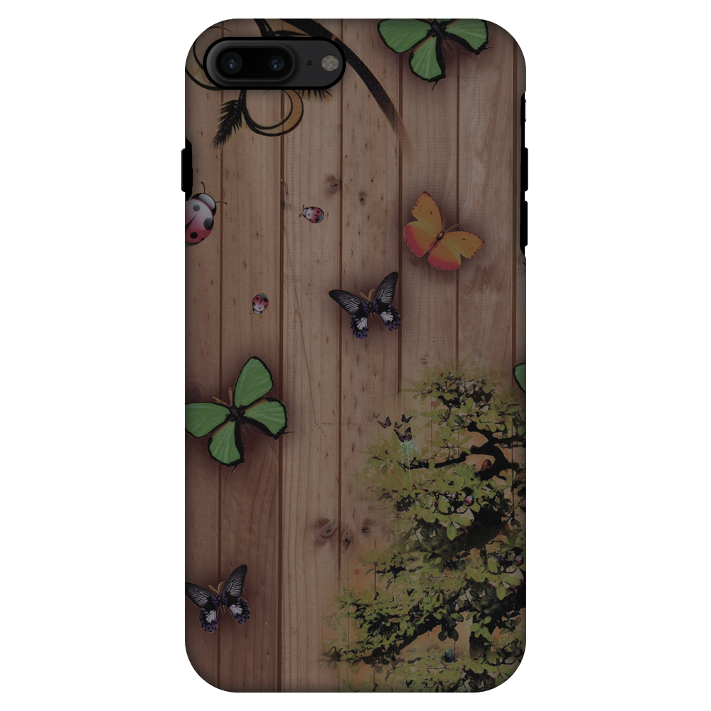 iPhone 7 Plus Case, Premium Handcrafted Printed Designer 2 in 1 Dual Layer ShockProof Case Back Cover for iPhone 7 Plus - Bonsai Butterfly