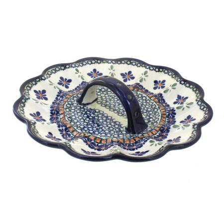 Polish Pottery Mosaic Flower Egg Plate](Pottery Barn Halloween Plates)