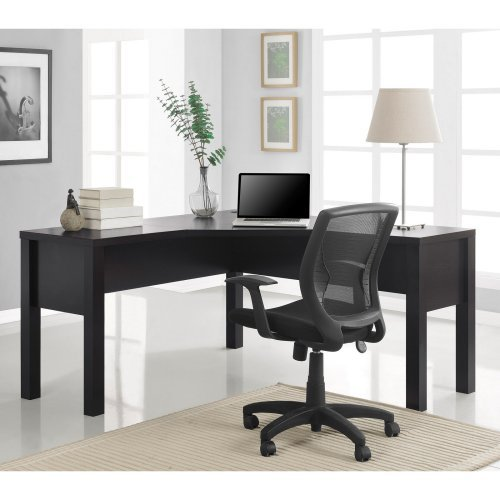 Altra Princeton L-Shaped Desk with Optional Hutch - Espresso
