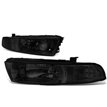 For 1999 to 2003 Mitsubishi Galant Headlight Smoked Housing Clear Corner Headlamp 00 01 02 Left+Right 2001 Mitsubishi Galant Headlight