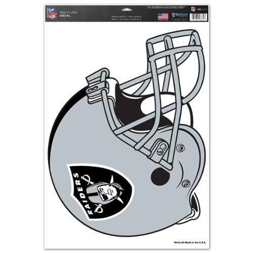 Oakland Raiders Official NFL 11 inch x 17 inch  Car Window Cling Decal by Wincraft