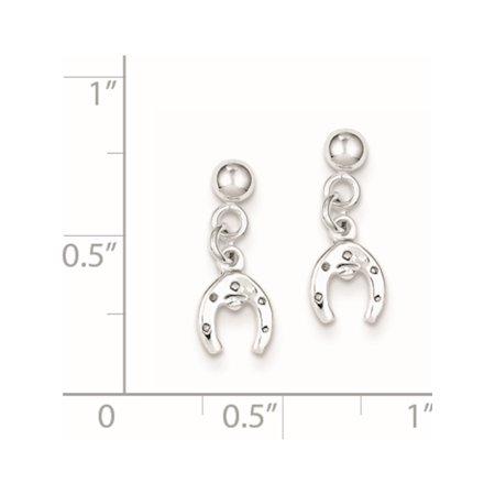 925 Horseshoe Boucles d'oreilles en argent sterling (post) de 6x17mm - image 1 de 2