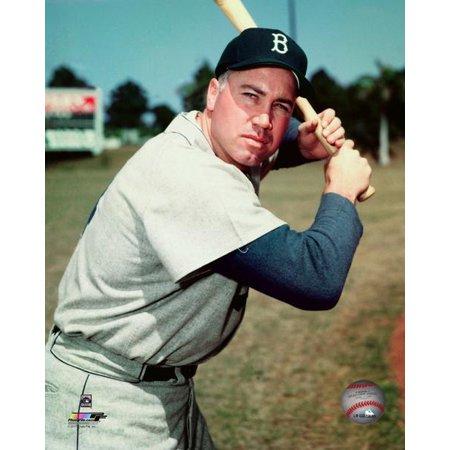 Duke Snider 1956 Posed Photo Print (Signed Duke Snider Photograph)