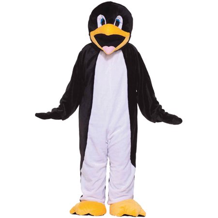 Penguin Mascot Adult Halloween Costume, Size: Men's - One Size