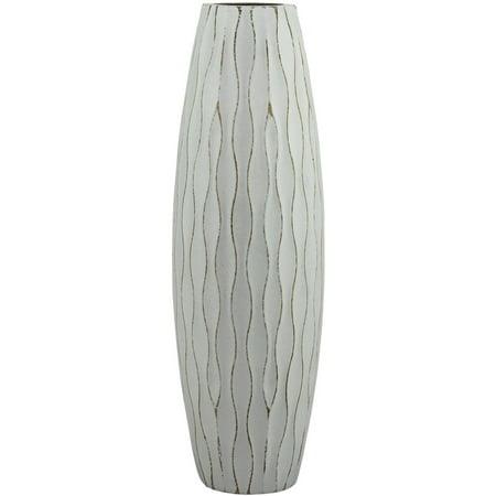 Persian Wool Vase - Medium Weathered Pale Ocean Wood Vase