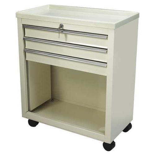 LAKESIDE BV06 Bedside Cart, 13x24x29, Beige, 3 Drawer