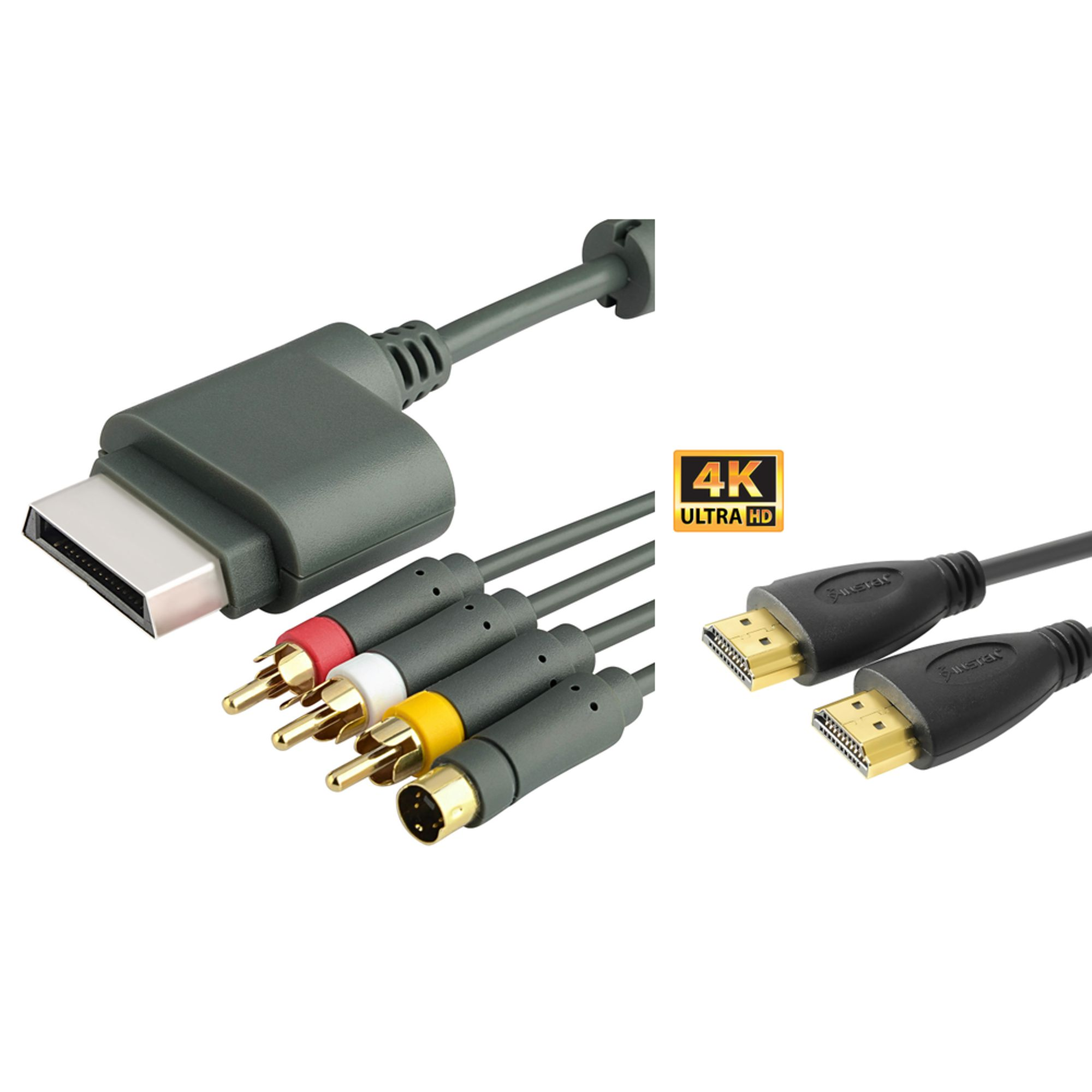 Insten 6 Ft HDMI Cable 1.3 1080p+AV S-Video Cable Cord For Xbox 360 New