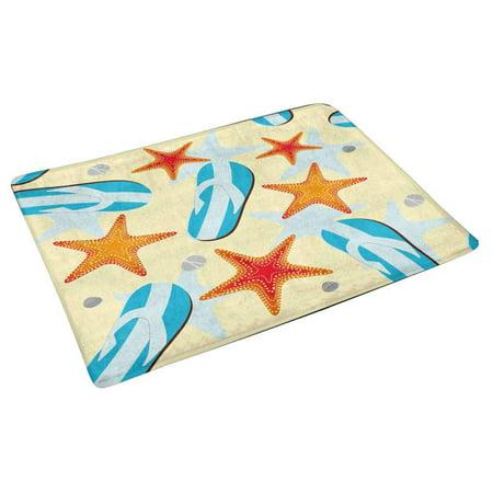 POP Beach with Flip Flops Andsea Stars Door Mat Home Decor Indoor Entrance Doormat 30x18 Inches - image 2 of 3
