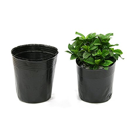 Mr Garden 100 Pcs Plastic Nursery Pots Soft Black Planter Nutrition 8 3 Inch