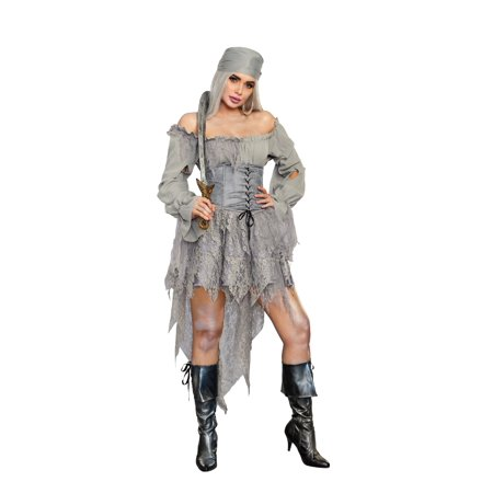 Women's Pirate Ghost Costume Dress - Gentleman Ghost Costume