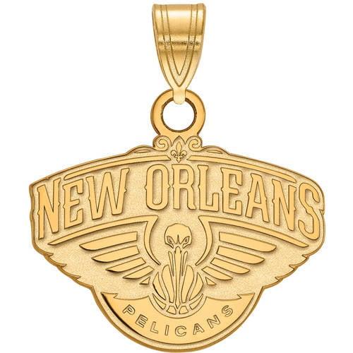 LogoArt NBA New Orleans Pelicans 14kt Yellow Gold Small Pendant