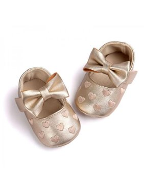 Newborn Baby Girl Soft Crib Shoes Infants Anti-slip Sneaker Prewalker 0-18M