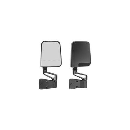 Black Rugged Ridge - Rugged Ridge 11017.01 Mirror, Black Manual Folding, Driver and Passenger Side
