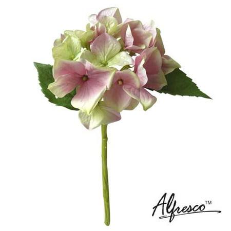 "Image of 12""Alfresco Decorative Artificial Flower Pink Hydrangea"