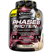 Phase8 Whey Protein Powder, Sustained Release 8-Hour Protein Shake, Vanilla, 50 Servings (4.6lbs)