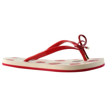 9571e3ab3aff New Kate Spade Womens S080014syrrex Red Flip Flops Size 6