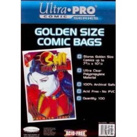 Ultra Pro Golden Age Pack Of 100 Comic Book Bags Multi Colored