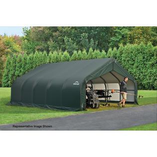 ShelterLogic Peak Style Shelter 18x28x11 Steel Frame in G...