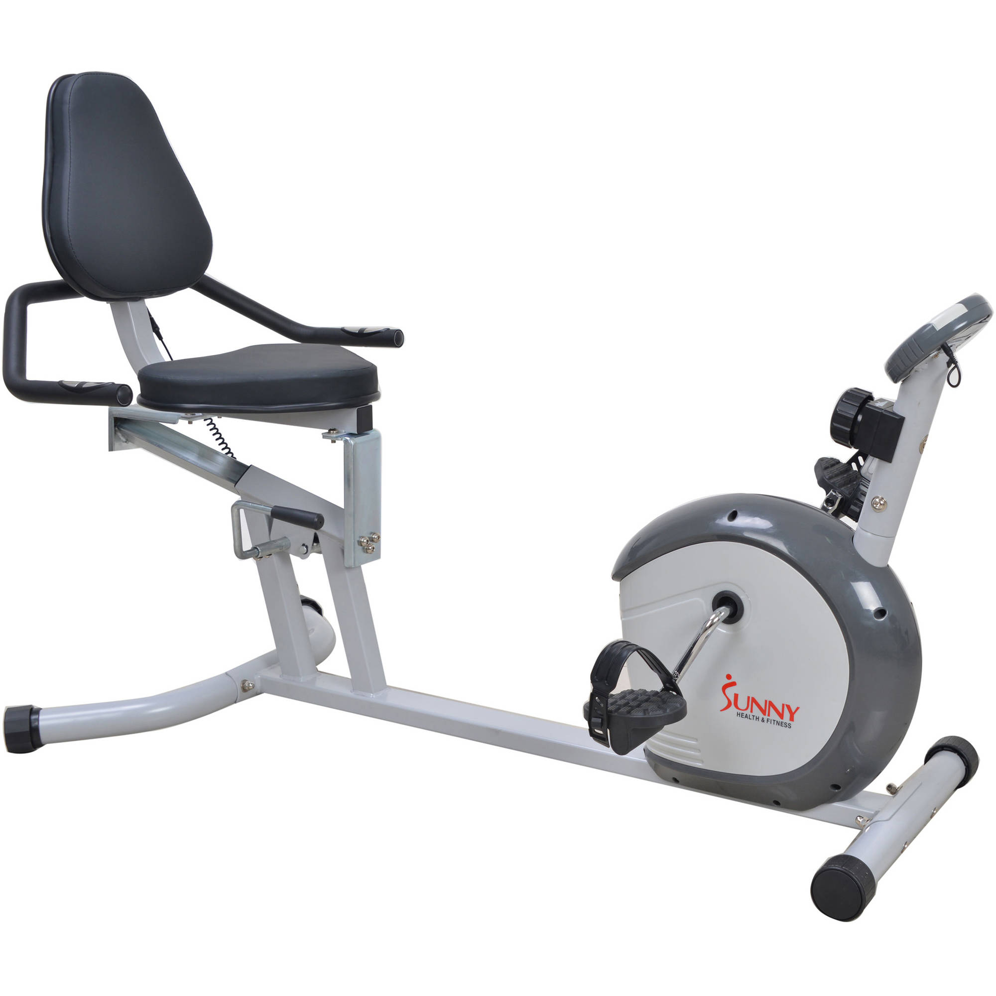 300lb Capacity Recumbent Bike Exercise Bike w  LCD Monitor and Pulse Rate Monitoring by Sunny Health & Fitness... by Sunny Distributor Inc