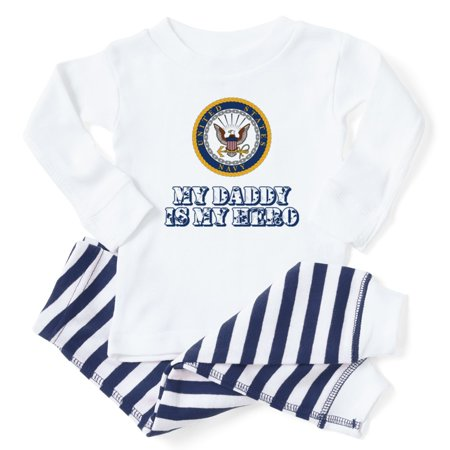 5e6db96a CafePress - CafePress - U.S. Navy My Daddy Is My Hero - Toddler Long Sleeve  Pajama set - Walmart.com