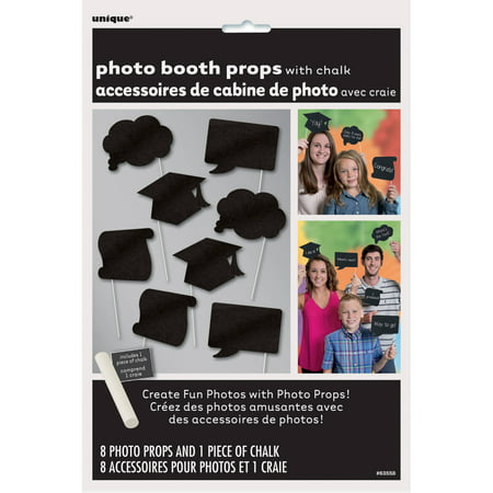 Unique Grad Party Ideas (Chalkboard Graduation Photo Booth Props,)