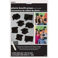 Chalkboard Graduation Photo Booth Props, 8pc