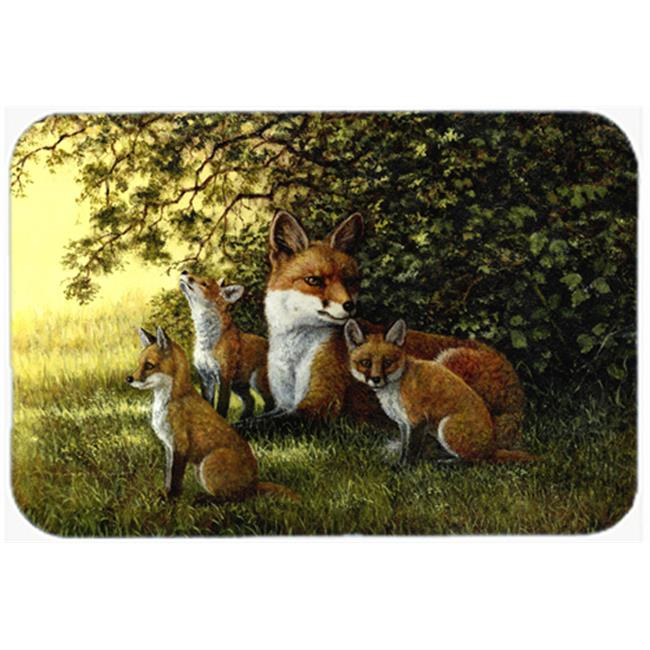 Carolines Treasures BDBA0382JCMT Foxes Resitng Under the Tree Kitchen or Bath Mat, 24 x 36 - image 1 of 1