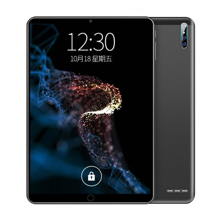 2020 New Tablets Android 9.0 Tablet PC 10.1 inch Ten-core WiFi Game Tablets Pad 8 + 128G Dual SIM Dengan GPS (Black)