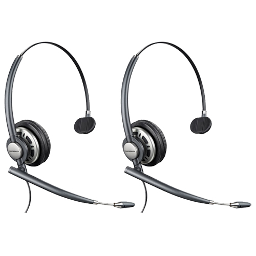 Plantronics EncorePro HW710 Mono Corded Headset w/ Noise-Canceling Microphone (2 Pack)