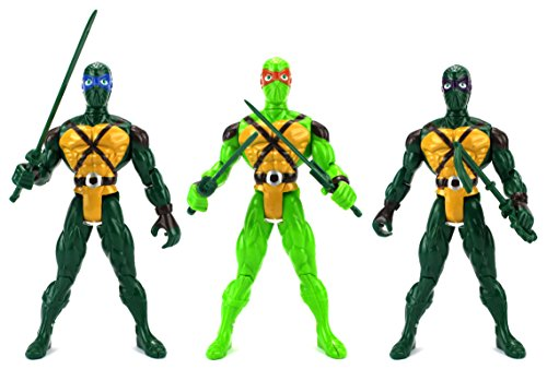 Super Ninja Big 3 Warriors Children Kid's Toy Action Figure Playset w  3 Figures,... by Velocity Toys