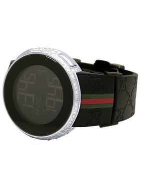 8d4b12ec0c9 Product Image Gucci Mens I-Gucci Digital Steel Diamond Watch YA114207 6.5 Ct