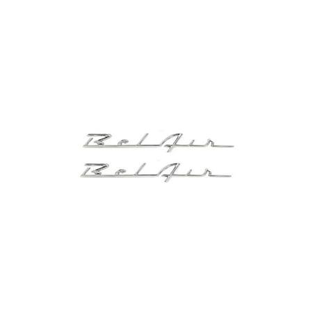 Eckler's Premier  Products 57-280996 Chevy Rear Quarter Panel Scripts,