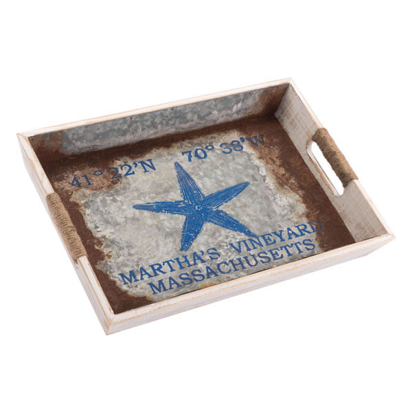 Nautical Tray Small Blue, Beach Decor