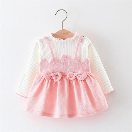 Kids Party Outfits (New Fashion Infant Toddler Kids Baby Girls Pink Dress Bow-Knot Princess Skirt Party Outfits)