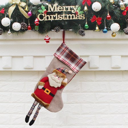 Christmas Socks Gift Bag Present Bag Christmas Stocking Christmas Tree Pendant Christmas Decoration