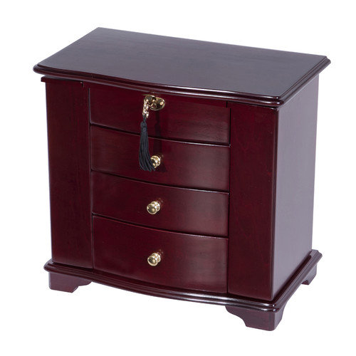 Mele Designs Waverly Wooden Jewelry Box, Cherry Finish
