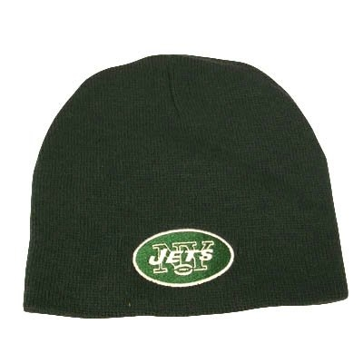 New York Jets Cuffless Beanie Knit Hat, Green Nfl by NFL
