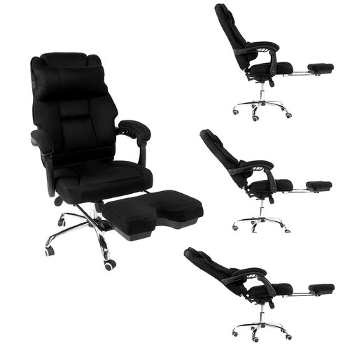 Merax High-Back Executive Mesh Office Chair for Reclining and Napping with Footrest and Back Support