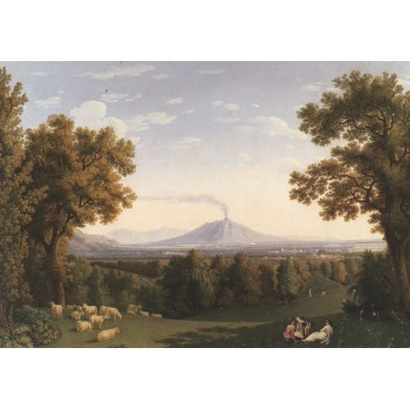 Framed Art for Your Wall Hackert, Jacob Philipp - View of the English Garden of Caserta from 10 x 13 Frame