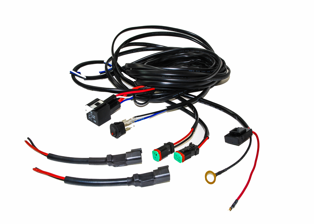 oz double dt harness plug wiring kit for led hid lights bars offroad 4x4