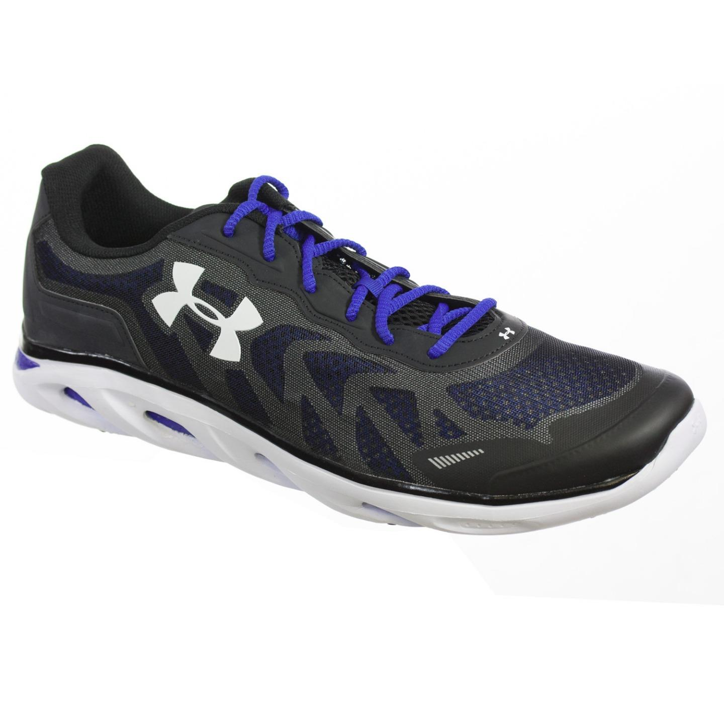 UNDER ARMOUR MENS ATHLETIC SHOES TEAM SPINE VENOM 2 BLACK WHITE ROYAL 15 M