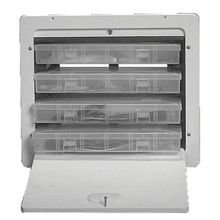 Teak Isle Manufacturing 25832  25832; Built-In Tackle Box Xl 4 - Teak Tinder Box