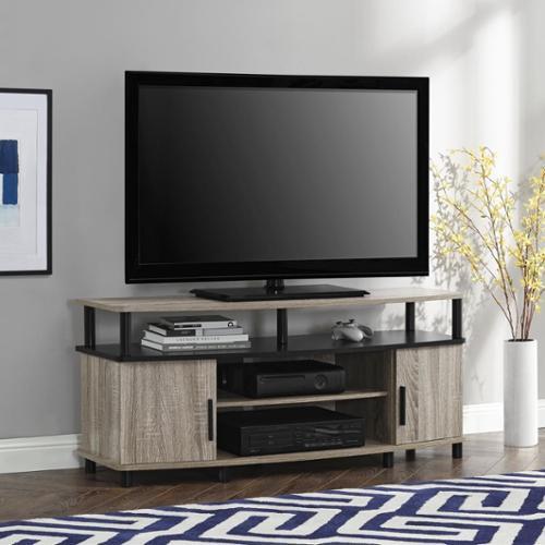 Ameriwood Home Carson Sonoma Oak 50 Inch Tv Stand Walmart Com