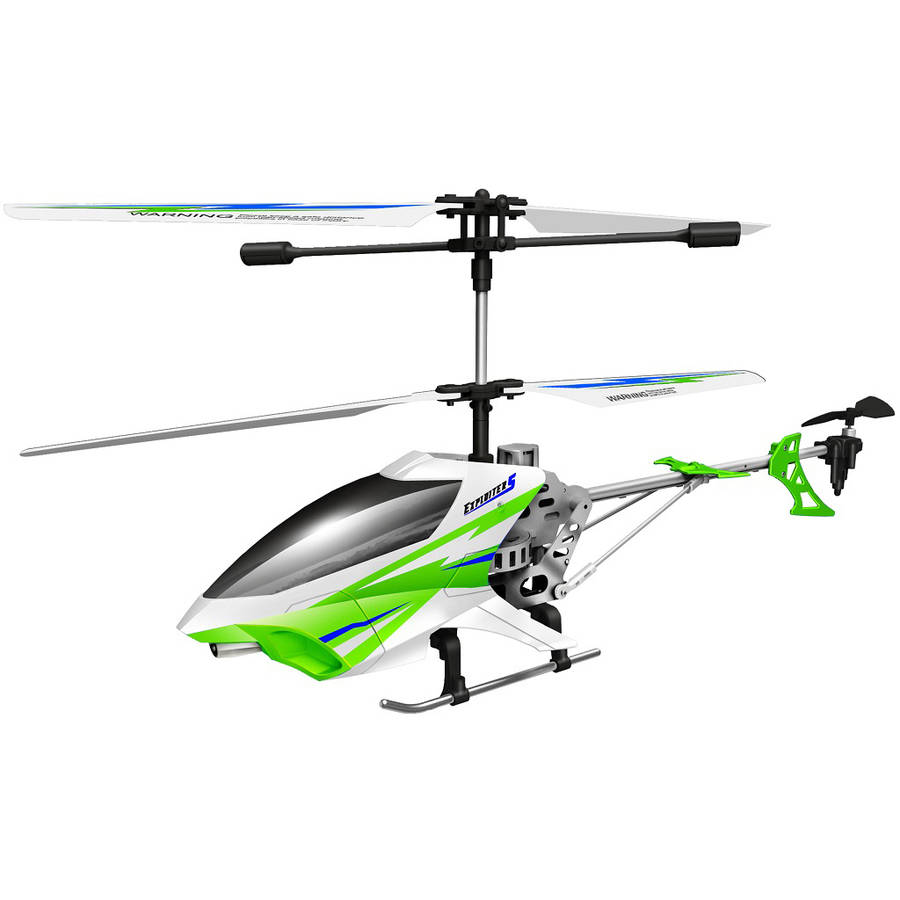 Exploiter S Auldey Sky Rover 2.4 GHz 3-Channel with Gyro Outdoor Helicopter, Green