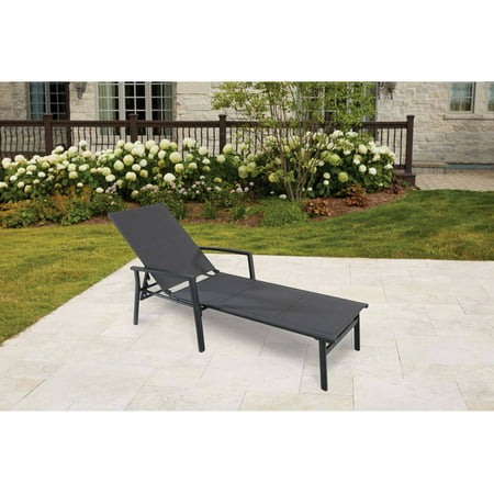 Sensational Cambridge Adjustable Padded Sling Outdoor Lounge Chair Machost Co Dining Chair Design Ideas Machostcouk